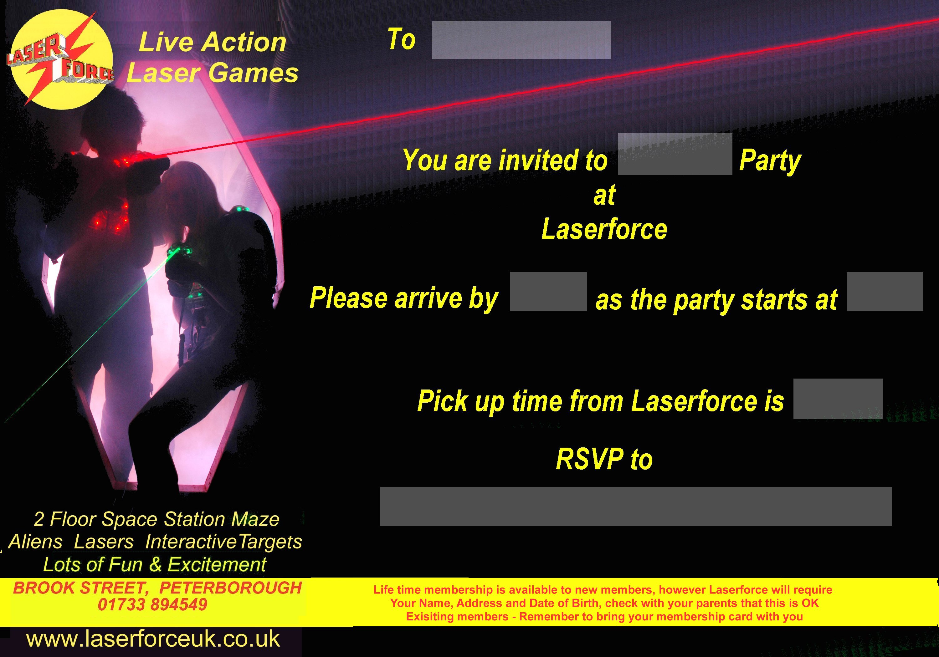 Laser Quest Party Invitations peacock themed wedding invitations