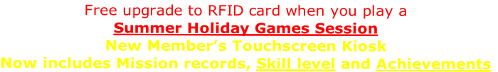 Free upgrade to RFID card when you play a 